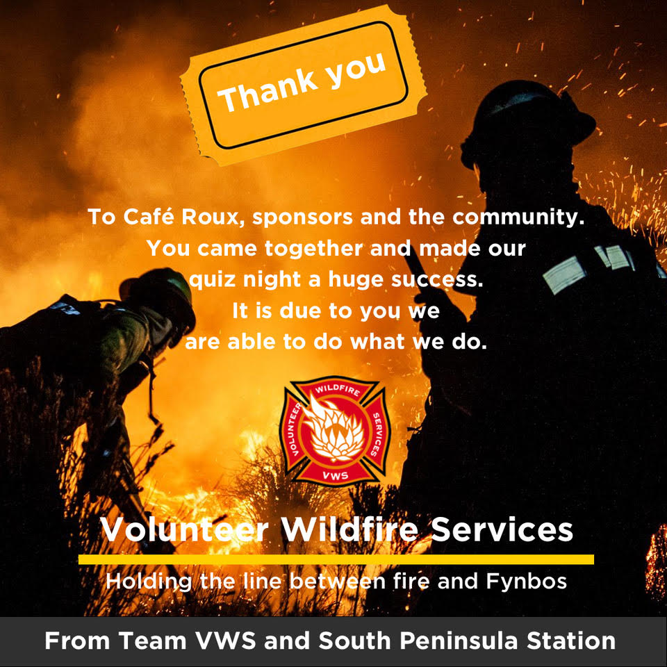 VWS quiz night fundraiser hosted by Café Roux – Thank you!