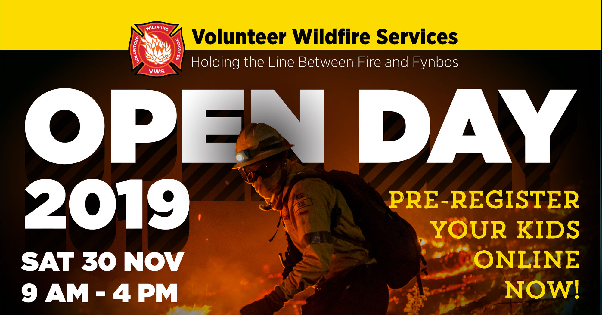 VWS OPEN DAY – 30TH NOVEMBER 2019